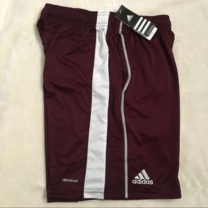 adidas NWT athletic climacool maroon shorts M